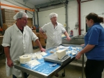 From left: our Stuart, Stuart and Lydia cheese tasting