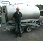 Mark and the goat milk tanker