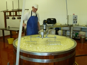 Martin and his rather delectable 700 litre vat!