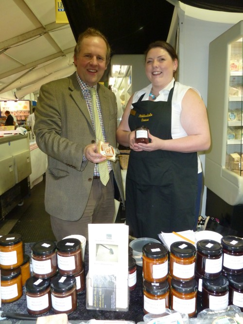 Tom Biggins with Lydia behind our stand