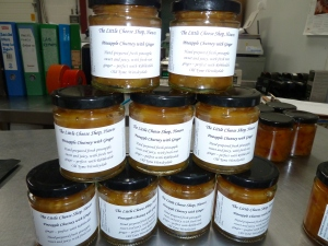 Newly labelled up pineapple chutney