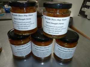 And new labels for the other chutney