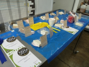 Lydia's cheese tasting, complete with some of our recent awards