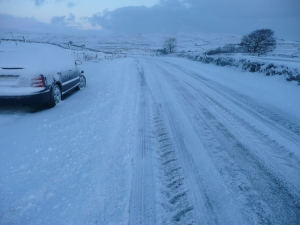 My car at the top of my place November 2010