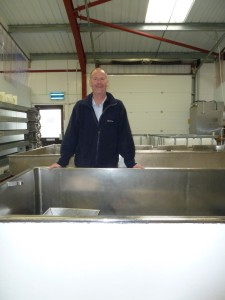 Steve in our little dairy