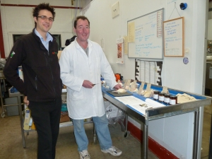 Robert from Delifresh with Stu doing a cheese tasting
