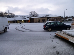 And snow on the ground at work Monday 5th December 2011