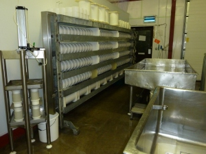 A press full of cheese