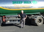 Andrew our sheep milk delivery person