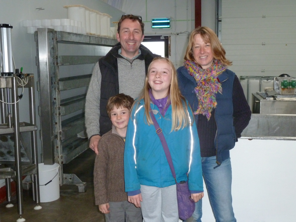 From left: Nick, Adam, Hannah and Anita from Somerset Cheese