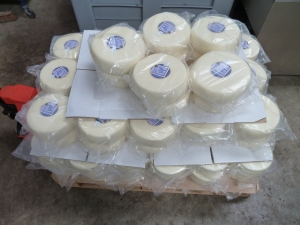 A pallet of Superior Goat waxed by Stu