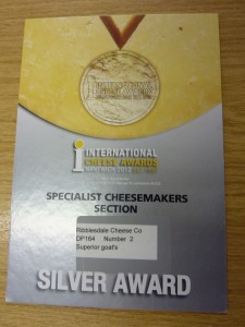 Silver Award for our Superior Goat: Yorkshire Goat Gouda