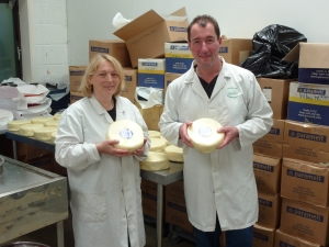 Me and Stu with our Superior Goat: Yorkshire Gouda