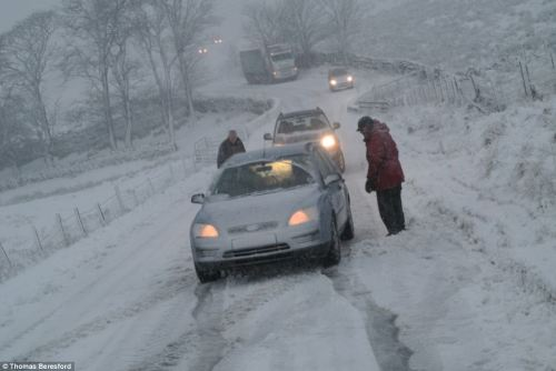 This picture was taken by someone who lives on this road and knows too well how bad driving conditions can be