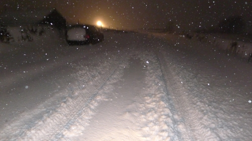 The road at the top of my place at 11pm 25th January 2013