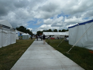 The walk way up to the great big cheese marquee