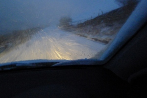 My very hairy journey home on Tuesday evening.  We don't get gritters or snow ploughs up my way